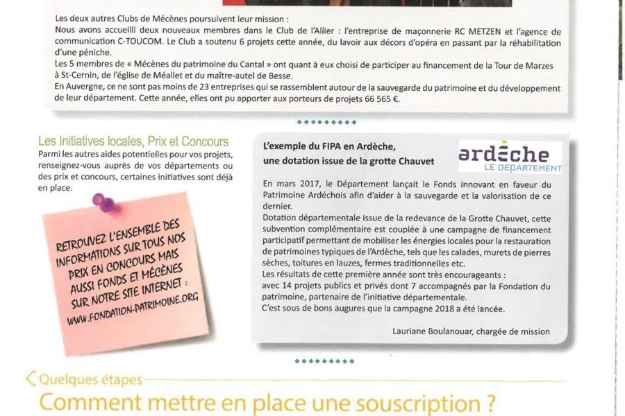 Lettre d'information de la Fondation du Patrimoine en Auvergne-Rhône-Alpes