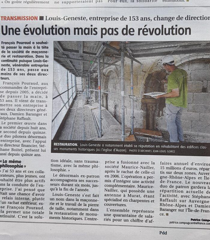 une évolution mais pas une révolution